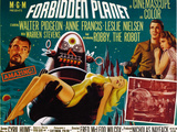 Forbidden Planet, Walter Pidgeon, Anne Francis, Robby the Robot, Leslie Nielsen, 1956 Metal Print