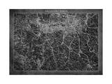 Dallas Map A Kunst på metall av  GI ArtLab