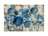 Aquamarine Floral Metalldrucke von Silvia Vassileva