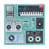 Music Gadgets & Instruments Prints by  karnoff