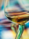 Witte wijn Kunst op metaal van Ursula Abresch