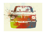 Bmw 2002 Front Watercolor 2 Metalldrucke von  NaxArt