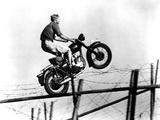 Filmbeeld uit The Great Escape met Steve McQueen, 1963 Kunst op metaal