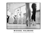 School of American Ballet Workshop Rehearsal in Studio Bathed in Sunlight, New York City Photographic Print by Michael Halsband