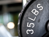 Close-Up of Gym Weightlifting Equipment Metal Print by Matt Freedman