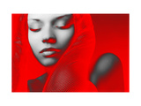 Red Beauty Metal Print by  NaxArt
