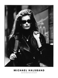 High Fashion Model, Alley New York City 1987 Photographic Print by Michael Halsband