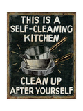Self Cleaning Kitchen Metal Print by  Pela
