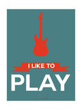 I Like to Play 7 Metal Print by  NaxArt