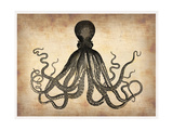 Vintage Octopus Metal Print by  NaxArt