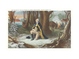 Painting of Washington at Valley Forge Metal Print