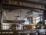 The Bar at the Havana Club Rum Factory, Havana, Cuba, West Indies, Central America Metal Print by Ellen Rooney