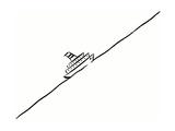 Ship on Diagonal Sea Metal Print by Peter Holt