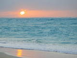 Sunset in Paradise over the Caribbean and on a Beach Metal Print by Mike Theiss