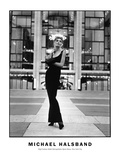 High Fashion Model Metropolitain Opera House, New York City Photographic Print by Michael Halsband