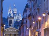 Sacre Coeur and Notre Dame de Lorette, Paris, France Metal Print by Walter Bibikow