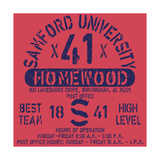 Football Athletic Sport Samford Typography, T-Shirt Graphics, Vectors Posters af  emeget