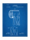 Toilet Paper Patent Metal Print