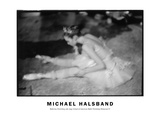 Ballerina Stretching Side Stage School of American Ballet Workshop Rehearsal No. 1 Photographic Print by Michael Halsband