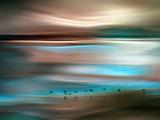 Migrations Metalldrucke von Ursula Abresch