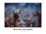 Rock on with the Devil Horns Photographic Print by Michael Halsband