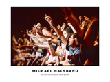 Rock Concert Front Row Audience Madrid, Spain 1996 Photographic Print by Michael Halsband