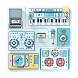 Music Gadgets & Instruments Posters by  karnoff