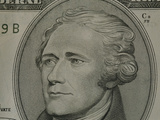 Portrait of Alexander Hamilton on the Ten Dollar Bill Metal Print by Joel Sartore
