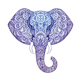 Tattoo Elephant with Patterns and Ornaments Posters by  Vensk