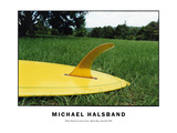 Yellow Board on Green Grass, Byron Bay, Australia 2001 Prints by Michael Halsband