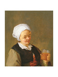 A Study of a Woman Drinking Giclee Print by Adriaen Jansz. Van Ostade