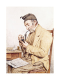 Grandfather with Pipe, 1903 Giclee Print by Albert Anker