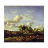 The Little Farm, 1661 Giclee Print by Adriaen van de Velde