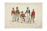 Superior Officers of the English Army, Army of Allied Sovereigns, 1815 Giclee Print by Adrien Pierre Francois Godefroy