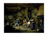 Peasants Dancing in a Tavern, 1659 Giclee Print by Adriaen Jansz. Van Ostade