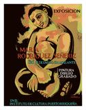 Exposicion (Exhibition) of Puerto Rican Artist Maria Rodriguez Señeriz Lámina giclée por Antonio Martorell