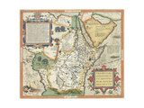 Map of Africa and the Arabian Peninsula Giclee Print by Abraham Ortelius