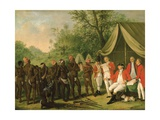 Pacification with the Maroon Negroes in the Island of Jamaica Giclee Print by Agostino Brunias