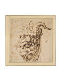 A Silvan Mask Giclee Print by Agostino Carracci
