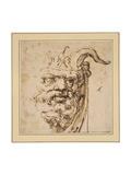 A Silvan Mask Giclee Print by Agostino Carracci