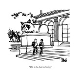 """This is the Internet wing."" - New Yorker Cartoon Premium Giclee Print by Drew Dernavich"