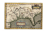 Map of Florida, C.1584 Giclee Print by Abraham Ortelius