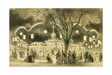 The Mabile Ball, the Champs Elysees Giclee Print by A Provost