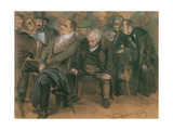 Bourgeois Germans in a Public Meeting, 1849 Giclee Print by Adolph Friedrich Erdmann von Menzel