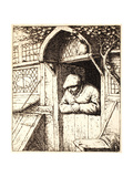 Man Leaning on His Door, C.1672 Giclee Print by Adriaen Jansz. Van Ostade