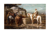 At the Well, 19th Century Giclee Print by Adolf Schreyer