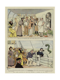 Why Jones Believes in the Sea Serpent, a Comedy in Two Acts Giclee Print by Albert Guillaume