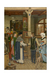 The Magistrates Visit the Workshop of Jan Van Eyck Giclee Print by Albrecht de Vriendt