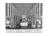 Infirmary of the Hospital of Charity in Paris, by Abraham Bosse (1602-1676) Giclee Print by Abraham Bosse