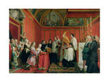 The Solemnization of the Marriage of Prince James Francis Edward Stuart (1688-1766) and Princess Ma Giclee Print by Agostino Masucci